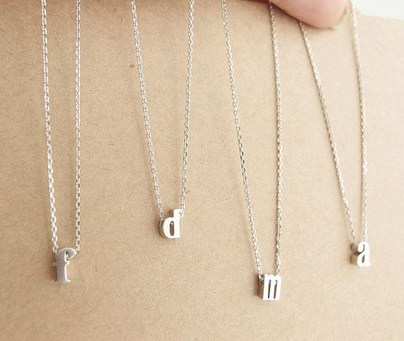 Hey, I found this really awesome Etsy listing at https://www.etsy.com/listing/155158502/lowercase-initial-necklace-silver