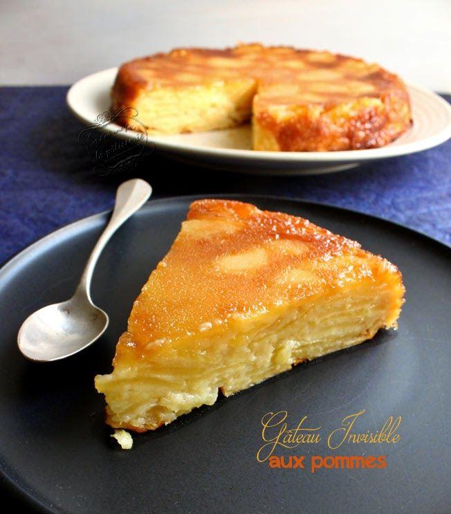 La nouvelle tendance : le gâteau invisible , dans une version aux pommes... histoire de varier les plaisirs avec toutes les pommes de notre jardin ! A refaire très vite...