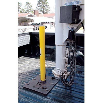 Hook-Up Helper is a custom extruded, rubberized plastic tube with a slit the entire length. This single-piece construction is made for the application of attaching a gooseneck trailer hitch to a truck.