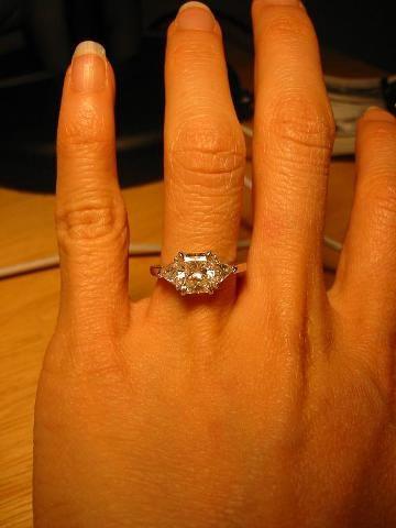 Radiant Cut Diamond With Trillion Side Stones