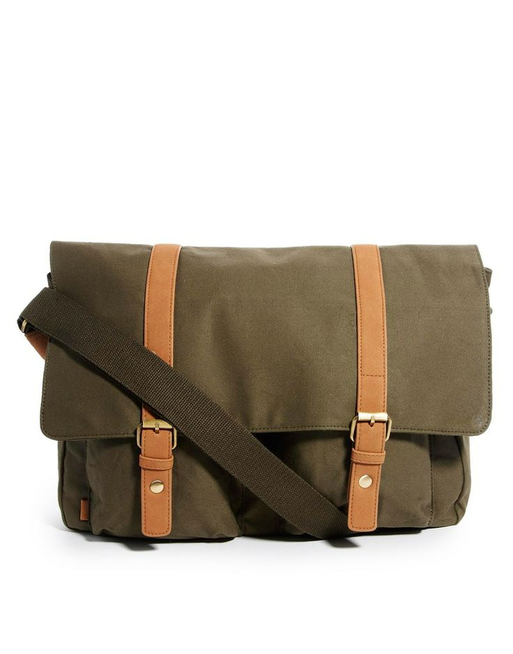 ASOS Canvas Military Satchel