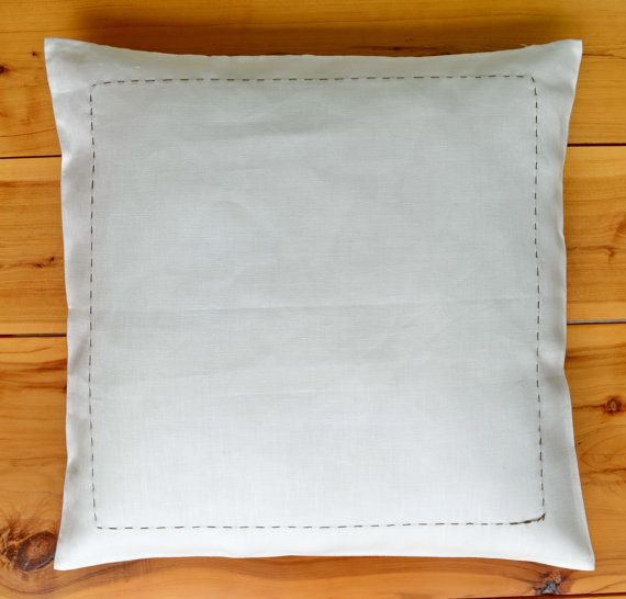 Pure Linen European Pillow Cushion Cover 18 by EcolivingCollection