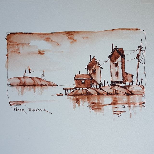 WEBSTA @ sheelerart - Latest video posted on YouTube. Sketching with soluble ink. Link to my YouTube Channel is in my bio or Cut and Paste: https://m.youtube.com/c/petersheelerart #Video #youtube #youtubers #landscape #art #original #watercolor #winsorandnewton #watercolour #painting #paintingaday #penandink #architecture #ink #moleskine_arts #canada #ImagesofCanada #farm #countryside #eastcoast #solubleink