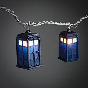 ThinkGeek :: Doctor Who TARDIS String Lights