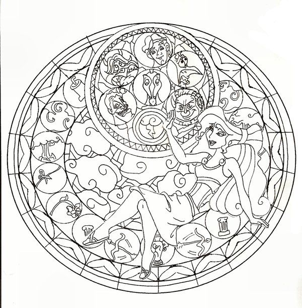 complex stained glass coloring pages - photo#30