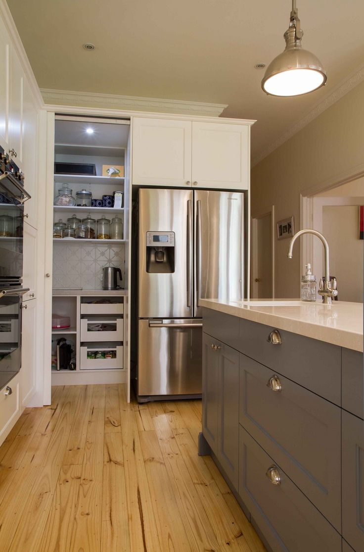 93 best pantry ideas images on pinterest pantry ideas for Large walk in pantry