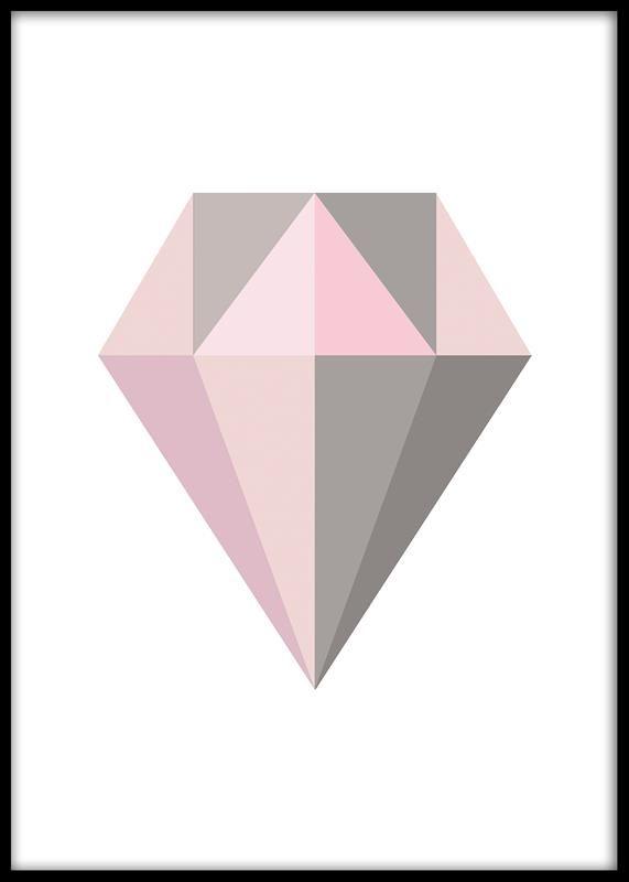 Grafisk diamantplakat.