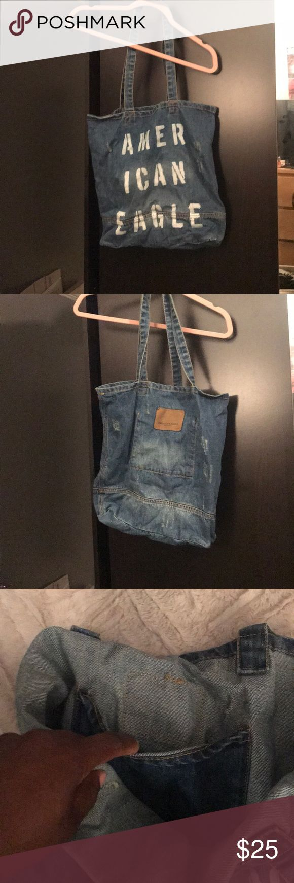 Denim Tote Bag Brand new denim tote bag from American Eagle. Never used, got as a gift. American Eagle Outfitters Bags Totes