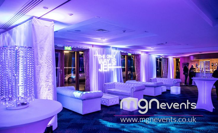 """The Only Way Is Essex themed party with a live band, disco and lots of bubbly at North Hants Golf Club in Fleet - """"Reem"""" (as they say in Essex!) venue for parties and weddings  🎉 Contact us to plan your special event! #TOWIE #PartyByMGN #PartyIdeas #CoolDecor #PartyPlanners #LEDLighting #Entertainment #PartyPlanning #Essex #GolfClub #50thBirthday #50thParty #Reem #TotesWellJell #Fleet #LEDCubes #PartyFurniture #Gobo #Uplighters #PoseurTables #CoolDecor #Drapes"""