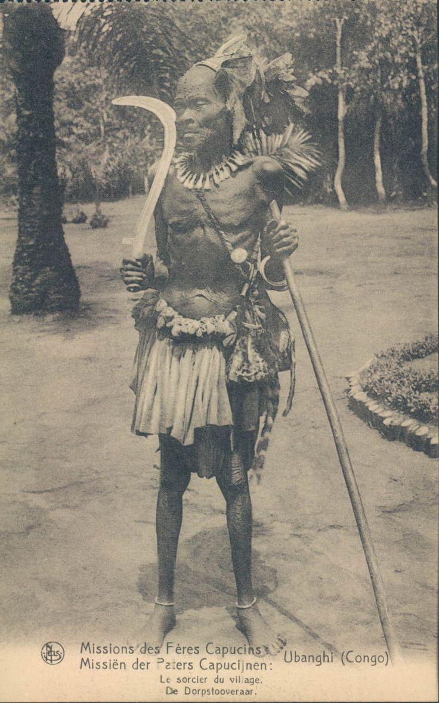 Belgian CONGO Ubanghi sorcerer 1910s