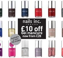Get £10 off Gel Manicures at #nailsinc. #Bullring until 30th Nov.
