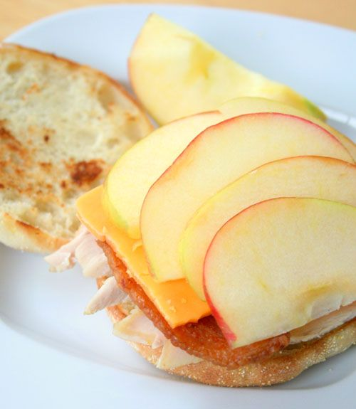 muffin, sharp Cheddar cheese and Honeycrisp apples make this sandwich ...