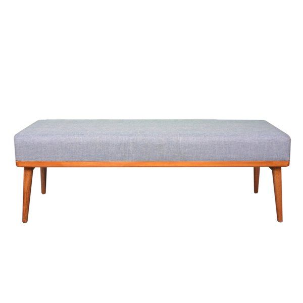 Trinh Wood Bench Upholstered Storage Bench Furniture