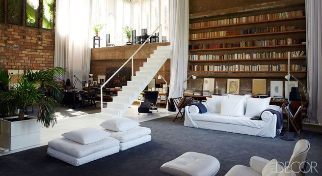 Barcelona: Living Rooms, Elle Decor, Living Spaces, Open Spaces, Interiors Design, Eating Places, Loft Spaces, Eateri, Eating Houses