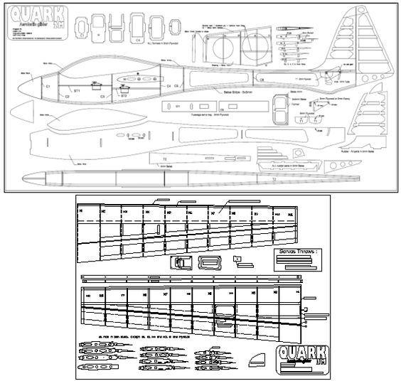 Views of the Quark 2M aerobatic Glider Plans