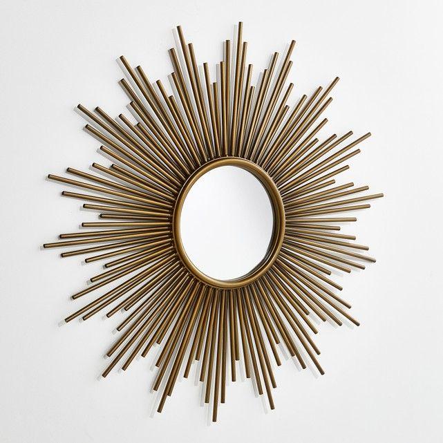 Espejo estilo sol Ø80 cm, Soledad