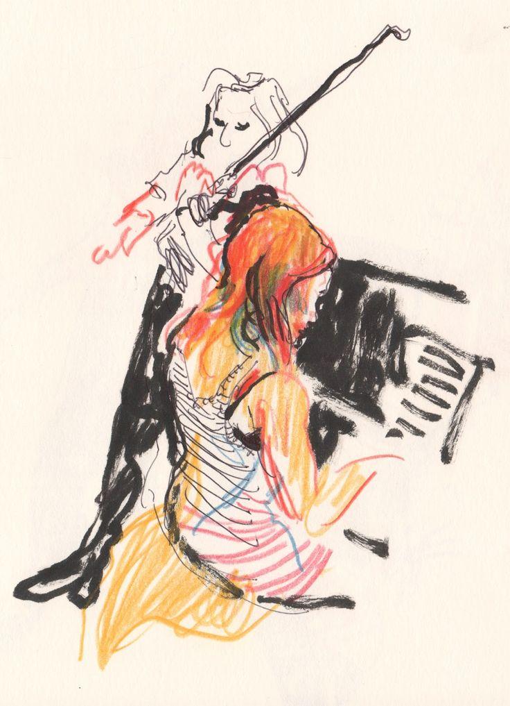 Urban Sketchers: Living room concerts in Ledeberg (Ghent)