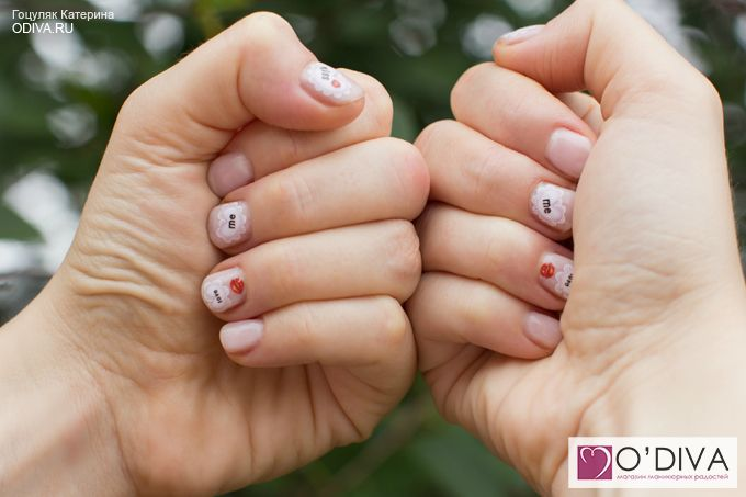 Водные наклейки (Сердечки BLE363) http://odiva.ru/~x6tYn Bluesky one step gel color 007 (очаровывающий) http://odiva.ru/~QkgVt #водныенаклейки #наклейкидляногтей #слайдердизайн #наклейкинаногти  #дизайнногтей #ногти #идеиманикюра #маникюр