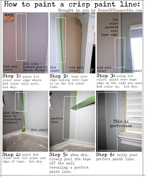 perfect paint line how-toIdeas, Painting Tips, Crisps Painting, Painting Perfect, Painting Colors, How To, Diy, Art Painting, Perfect Painting