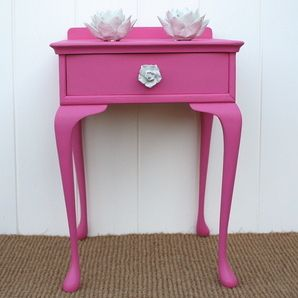 Hot Pink Bedside Table - cute color, but might be too intense...