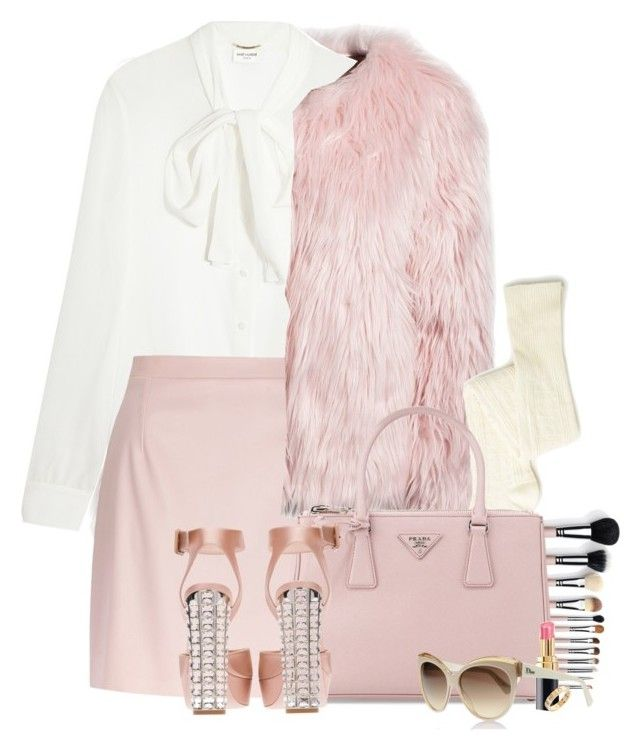 """Scream Queens."" by samhoran95 ❤ liked on Polyvore featuring Estradeur, Yves Saint Laurent, River Island, Prada, Miu Miu, Chanel, Cartier and ScreamQueens"