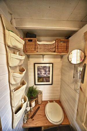 "Tack House bathroom- love the ""elegance"" even with a composting toilet!"