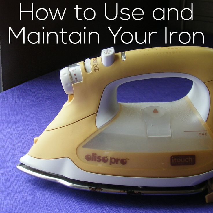 How to use, care for and maintain your steam iron. Also has links to a review of my favorite iron, and another post reviewing lots of different irons.