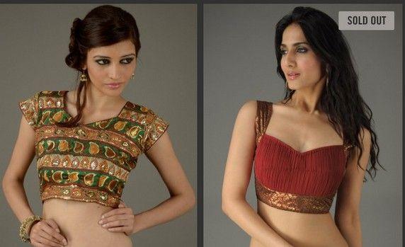 Cocktail saree blouse designs – Saree Dreams