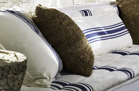 Ralph Lauren Signature Coastal Co-ordinates fabric available at Browsers Furniture Co., Limerick, Ireland