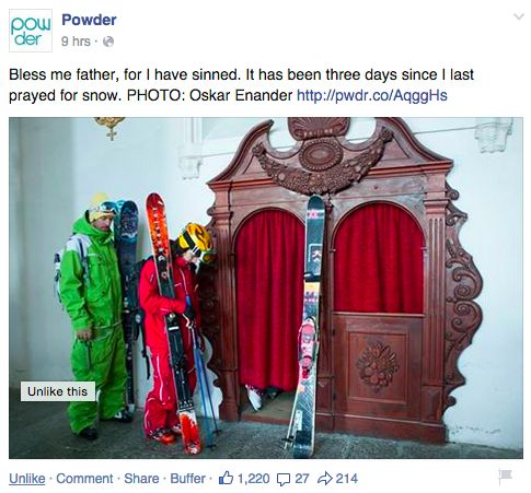 Know your target market (this post is GOLD for skiers!)