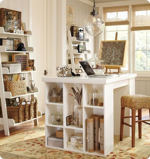 Craft room...love the color scheme