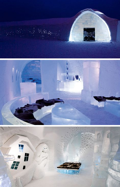 Ice Hotel, Jukkasjarvi, Sweden What first opened in 1990 as an exhibit by a French ice artist has since become a magical and rather chilly chance for guests from around the world to experience the feeling of sleeping in an igloo. Crafted from ice and snow, each year Ice Hotel is rebuilt by visiting artists …