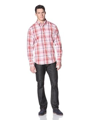 Alex Cannon Men's Washed Broken In Plaid Shirt