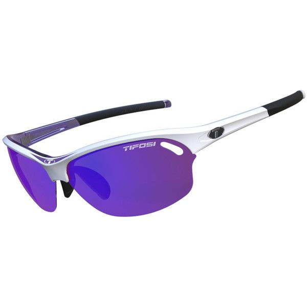 Tifosi Sunglasses - Wasp Race Purple w/Three Lenses ($72) ❤ liked on Polyvore featuring accessories, eyewear, sunglasses, clear lens glasses, tifosi glasses, clear sunglasses, tifosi sunglasses and purple glasses