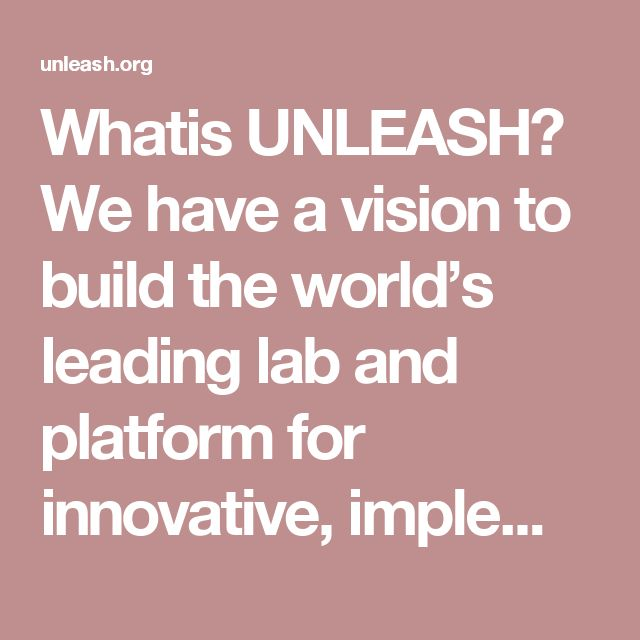 Whatis UNLEASH? Wehave avisionto build the world's leading lab and platform for innovative, implementable and scalable solutions to the Sustainable Development Goals (SDGs). By using the innovative mindset of young people and partner talents with leading companies, research institutions, foundations, non-profits, and investors, we aspire to provide next generation solutions for the SDGs. Ourmissionis to accelerate disruptive ideas by engaging top talents in problem-solving and…