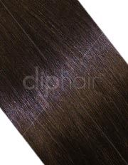 DIY Hair Extensions | One Piece Top-up Remy Clip In Human Hair Extension - Medium Brown (#4) | Free Delivery | Visit: www.cliphair.co.uk