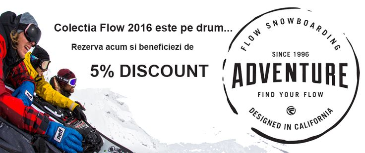 Colectia Flow 2015-2016 este online. Rezerva-ti produsul si de la noi primesti 5% DISCOUNT http://www.snowsports.ro/Flow.html
