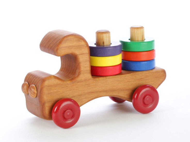 Wooden Toy Truck - Stacking Toy by PapaDonsWoodenToys on Etsy https://www.etsy.com/ca/listing/207215543/wooden-toy-truck-stacking-toy