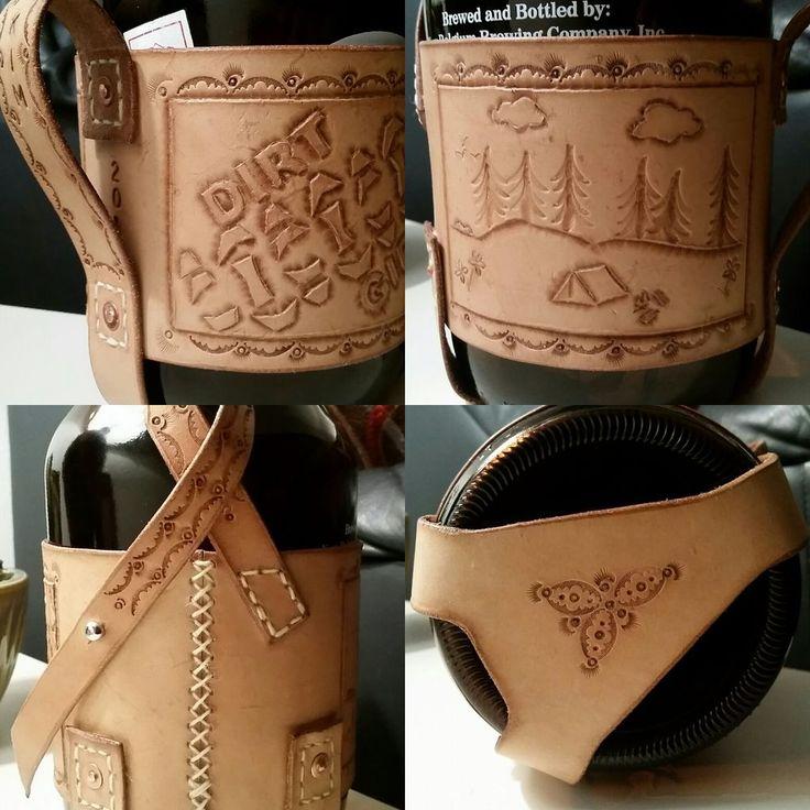 Leather Beer Growler Holder