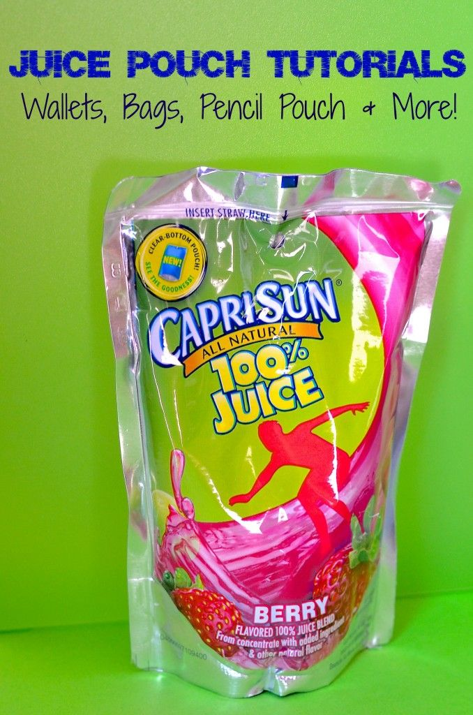 DIY capri sun juice pouch tutorials - links to tote bags, wallets, headbands, lunch bags and SO much more! EVEN a NO SEW tutorial is listed! Great for recycled gifts & classroom rewards too