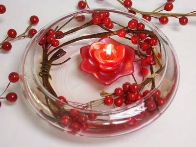 christmas wedding centerpieces | Diwali Decorations Using Floating Candles, Floating Candles Diwali ...