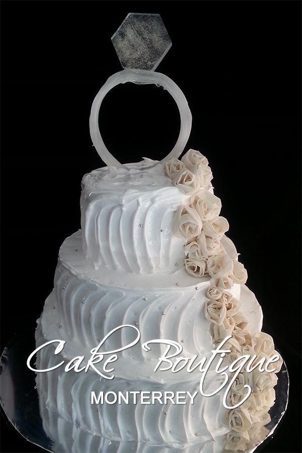 Wedding Ring Cake, Boda, pastel Novios, Anillo Compromiso
