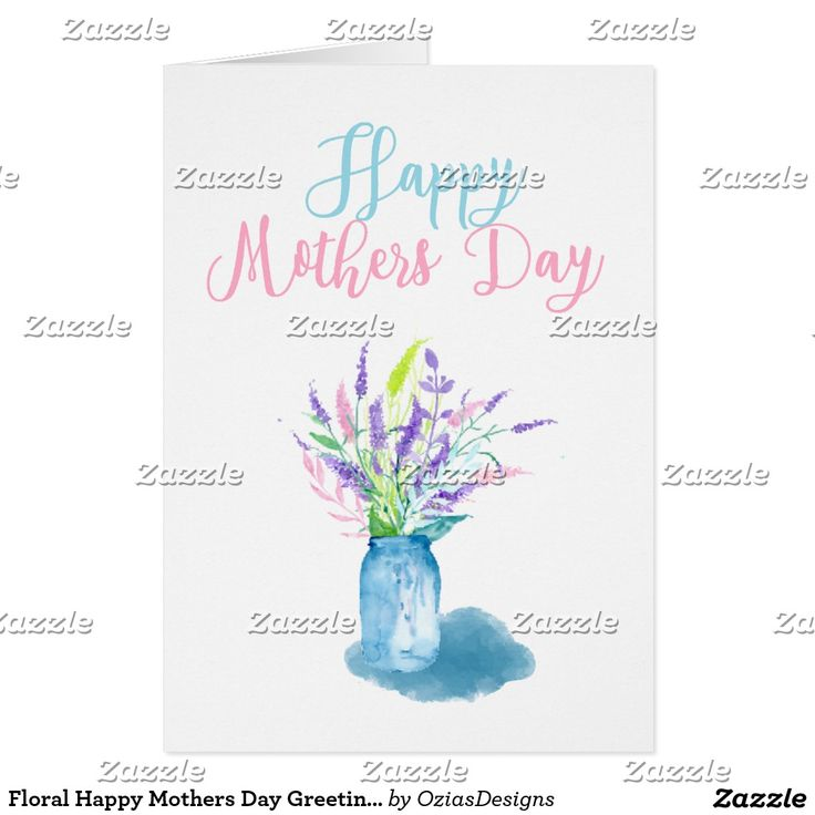 Floral Happy Mothers Day Greeting by ozias