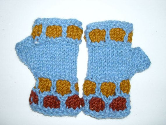 Fingerless  gloves . Winter accessories.Holiday by MarikaHandKnits, $26.00