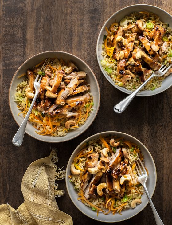 One of our favourite speedy recipes - this sticky hoisin chicken with stir-fried rice makes an ideal midweek recipe for the family, and it's on the table in just half an hour.