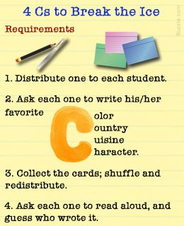 Classroom Icebreaker Activities for Students