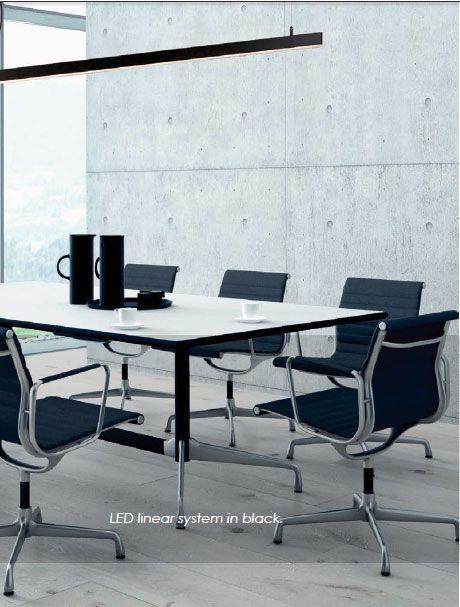 Φωτιστικό κρεμαστό ράγα, σε μοντέρνο στυλ, τεχνολογίας LED, κατασκευασμένο από αλουμίνιο. Κατάλληλο και για επαγγελματική χρήση! Pentant luminaire, in modern style, LED technology, made of aluminum. Suitable for professional use! #office #officedesign #officedecor #decoration #minimal