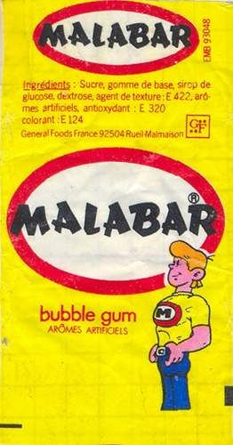 le malabar, tout rose, avec lequel on faisait des bulles