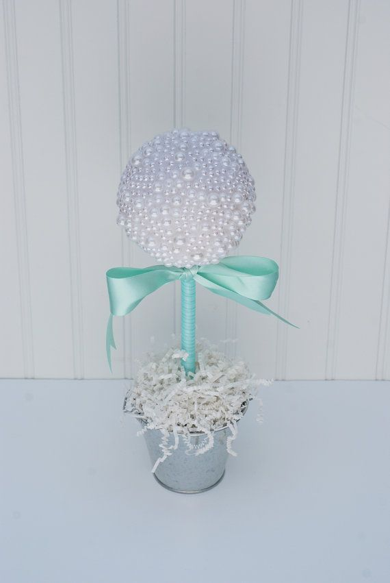 Pearl topiary centerpiece tiffany blue by
