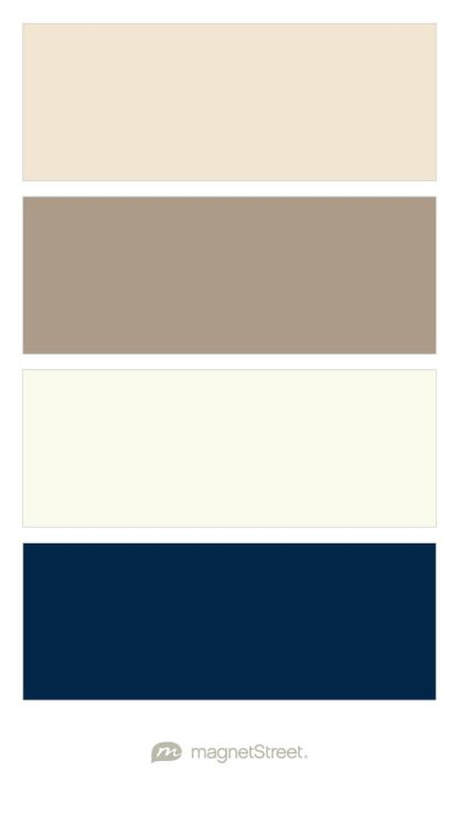 Champagne, Ashwood, Ivory, and Navy Wedding Color Palette - custom color palette created at MagnetStreet.com